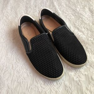 Dr. Scholl's scout leather mesh slip on sneakers